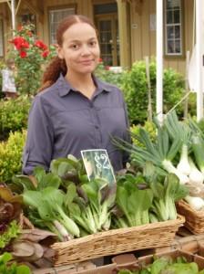 Items in a veggie box.